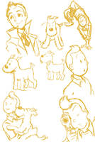 ::Tintin Sketchdump:: by pinkie-cupcake