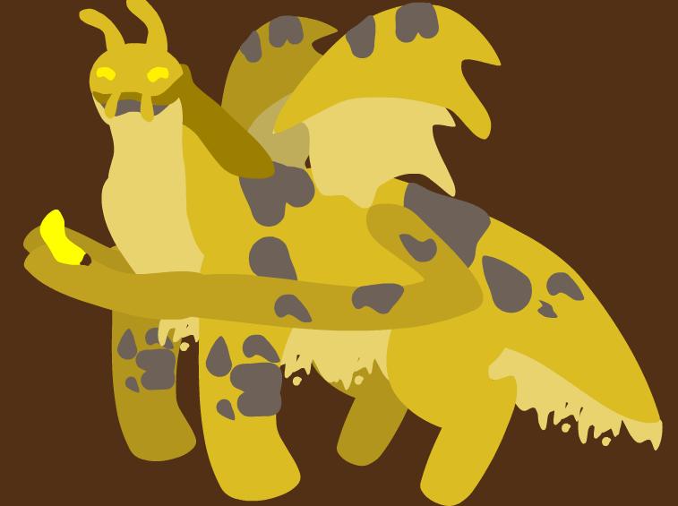 Slimy Banana Boi by GumdropAngelDragon