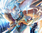 Sesshomaru -Blue light- by nanshu29