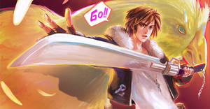 Squall Leonhart and Chocobo