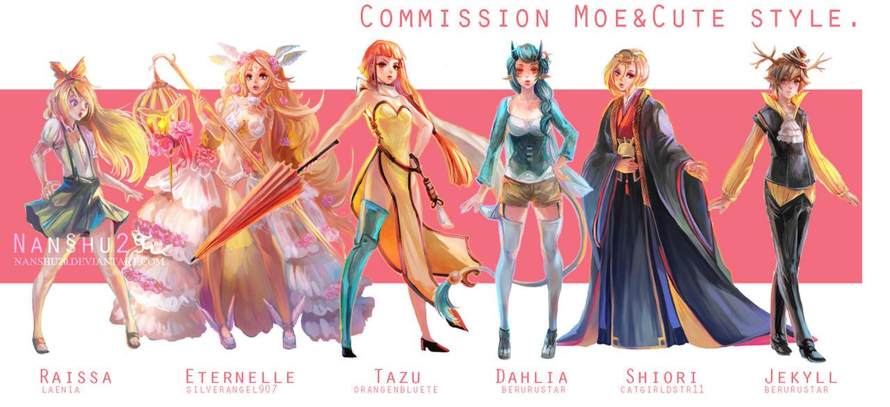 ::Fullbody Moe style::Character Commission art by nanshu29