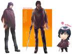 Balthazar Anime color VS CG color VS Chibi by nanshu29