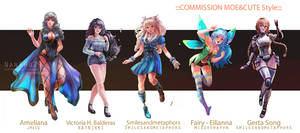 ::Fullbody Moe style::Character Commission set 11