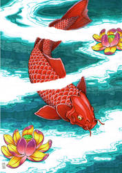 Koi Fish by mauriliodna