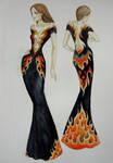 Flames dress design