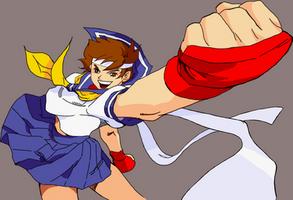 SFA3 Sakura Kasugano Victory HD Restored by Apoklepz