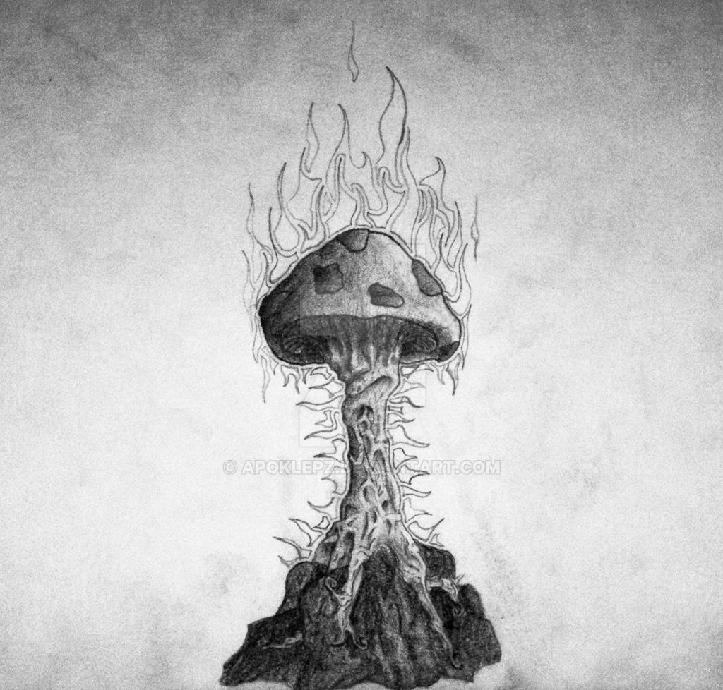 Fiery Mushroom by Apoklepz