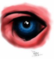 Evil Eye Study by Apoklepz