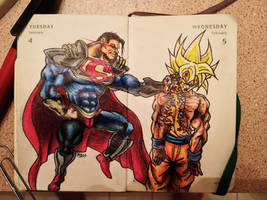 Superman Prime vs Goku by Apoklepz