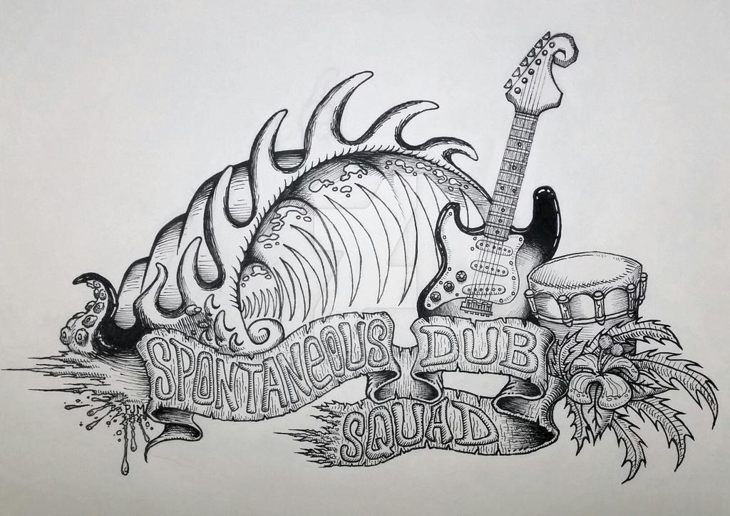 Spontaneous DUB Squad - Band Art 01 by Apoklepz