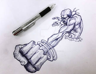 Dhalsim Pen Sketch