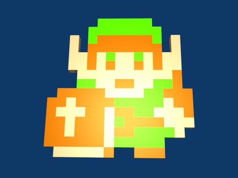 Link NES 3D Pixel Art by aragorn3000 on DeviantArt