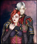 ArtTrade: Dood and Corra together by Andecaya