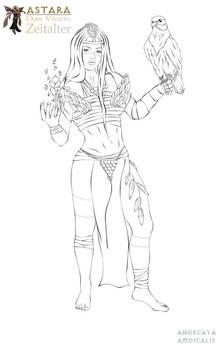 LINEART - Ameysha The Jungle Priestess