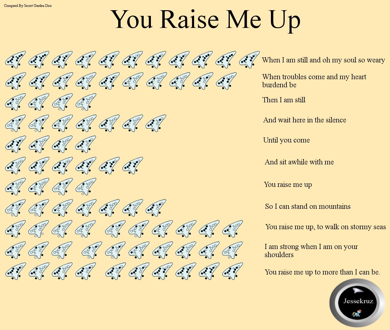 You Raise Me Up 12 hole tab by jessekruz on DeviantArt