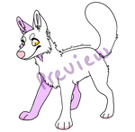 Pay to Use Wolf Lineart