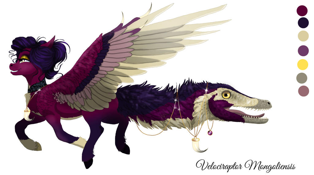 CLOSED Velociraptor Tailmouth adopt by PhantomFox777