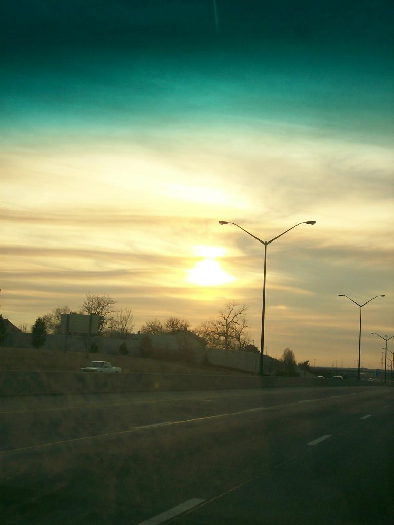 high way sunset by liebtme