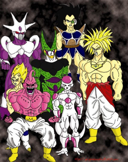Dragon Ball Z villains by uppercasecat on DeviantArt