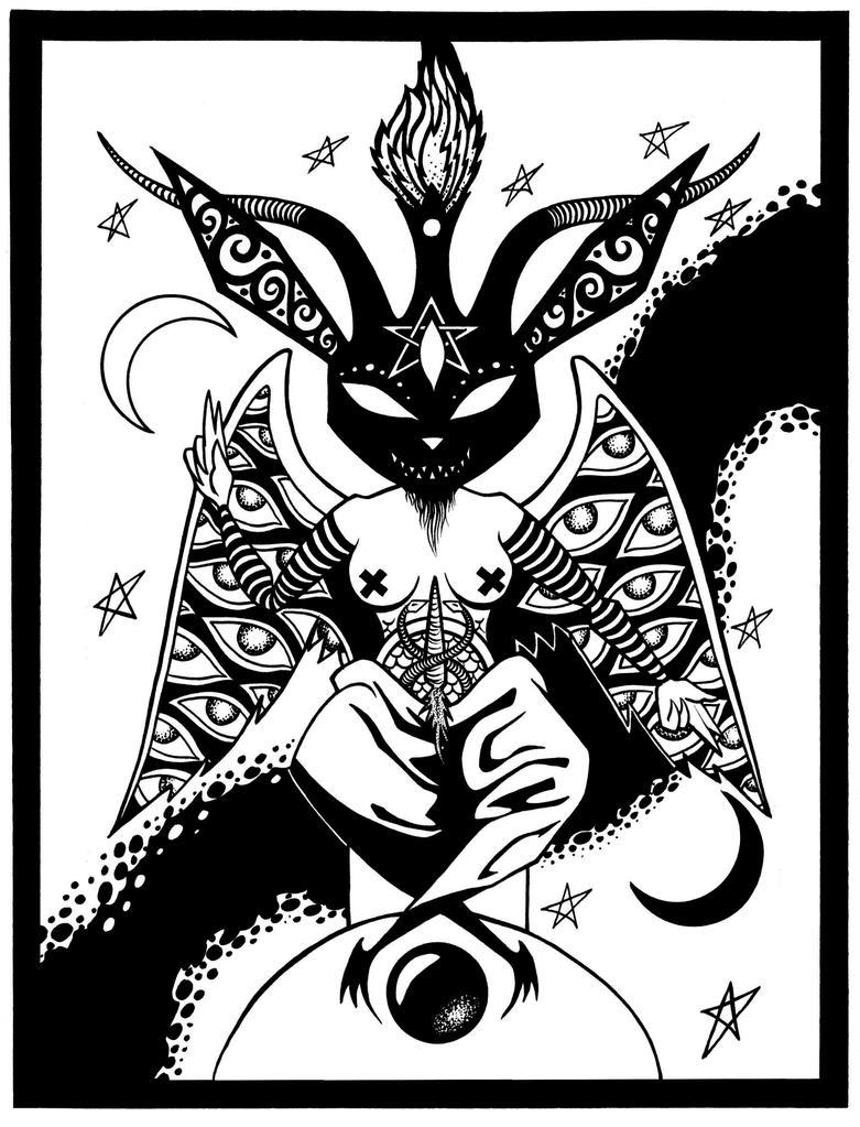 Black Rabbit Baphomet by Tillinghast23