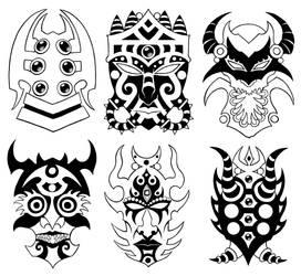 Wall of Masks 21 by Tillinghast23
