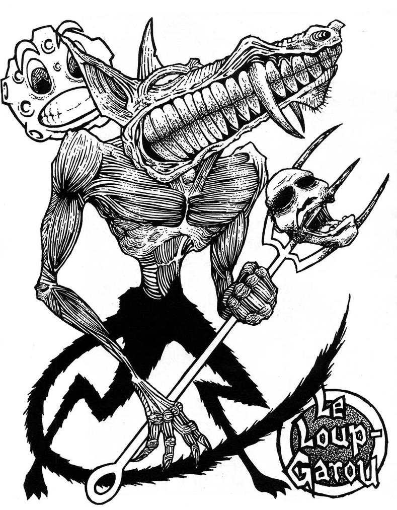 Dessin de loup garou manga dessin de manga - Dessin loup garou ...