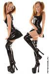 Little PVC Black Dress IV