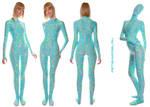 Pyjamas Style Spandex Catsuit. UV reactive.