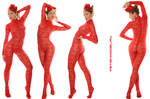 Red Guipure Catsuit