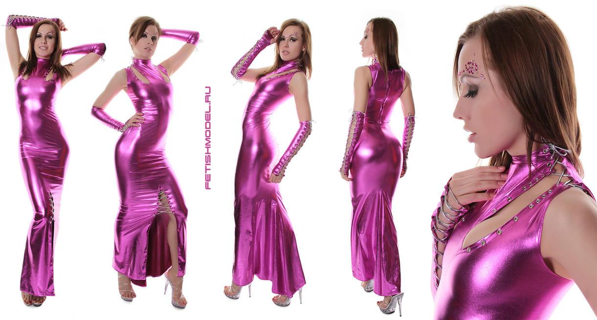 Fuchsia Metallic Spandex Dress by agnadeviphotographer