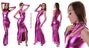 Fuchsia Metallic Spandex Dress