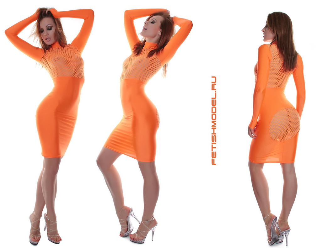 Orange Spandex Dress by agnadeviphotographer