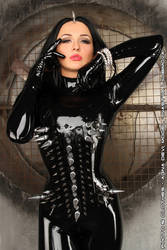 Black Rubber and Steel Spikes