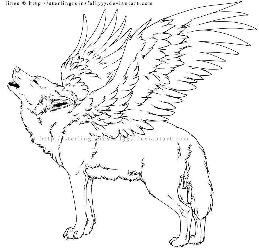 fly angel coloring pages | Come here for free Useable Lineart - Artists, Writers, and ...