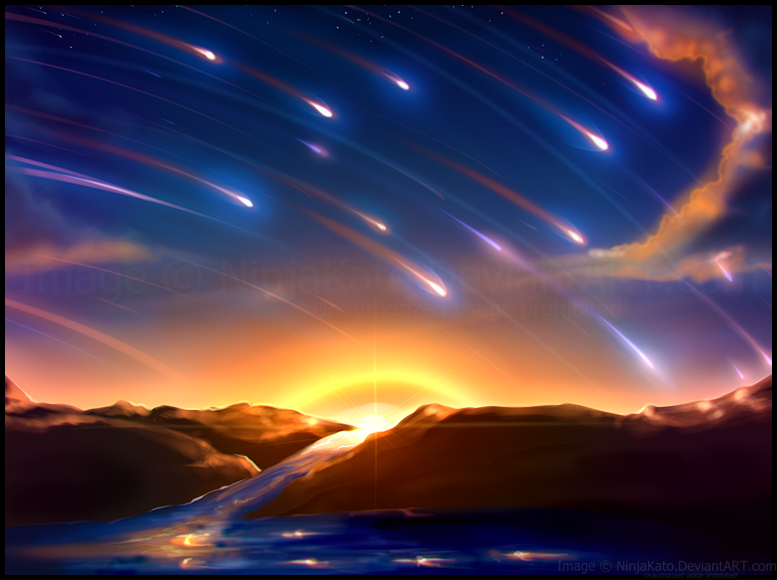 Meteor Shower (speed draw) by NinjaKato on DeviantArt