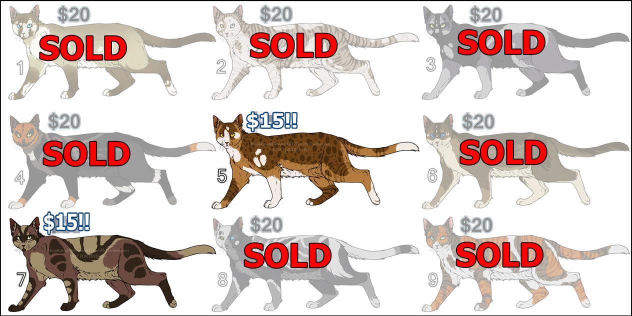 Cat/Design Adopts (1 LEFT) NEW PRICE! by NinjaKato