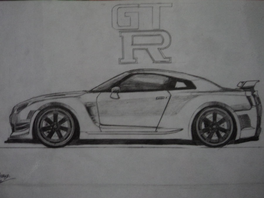 Nissan Skyline Sketch Nissan Skyline Gtr R35 by