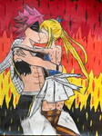 E.N.D and Lucy Kissing by TitanXecutor