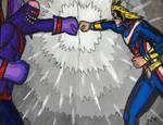 My Hero Academia: All Might vs Nomuboo by TitanXecutor