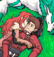 Cuddle :Zelos and Lloyd: by JereduLevenin