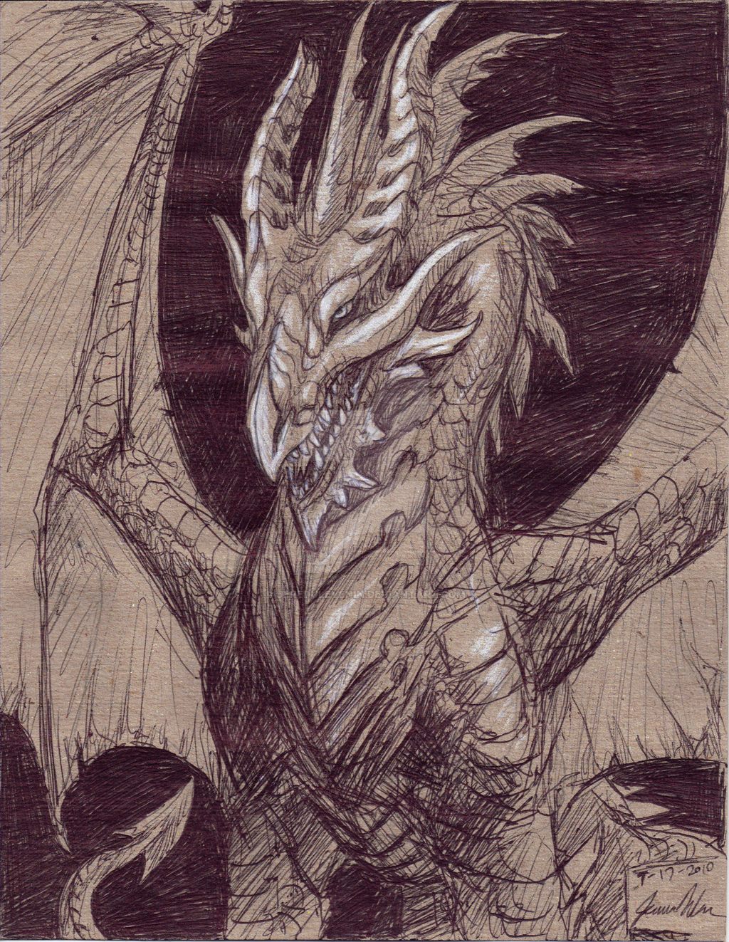 Ink Dragon by JereduLevenin