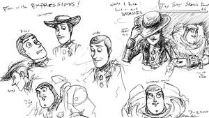 Buzz and Woody sketch dump 06