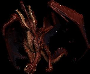 Red Dragon Test Pose 1 by JereduLevenin