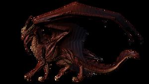 Red Dragon Test Pose 2 by JereduLevenin