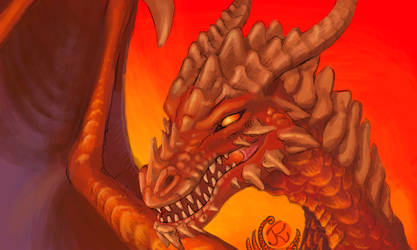3DS Dragon Painting: Lord of the Red Mountain by JereduLevenin