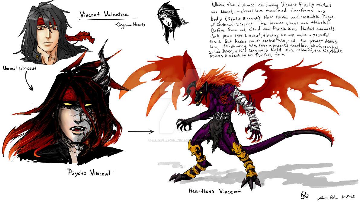 Vincent Valentine S Heartless By Jeredulevenin On Deviantart