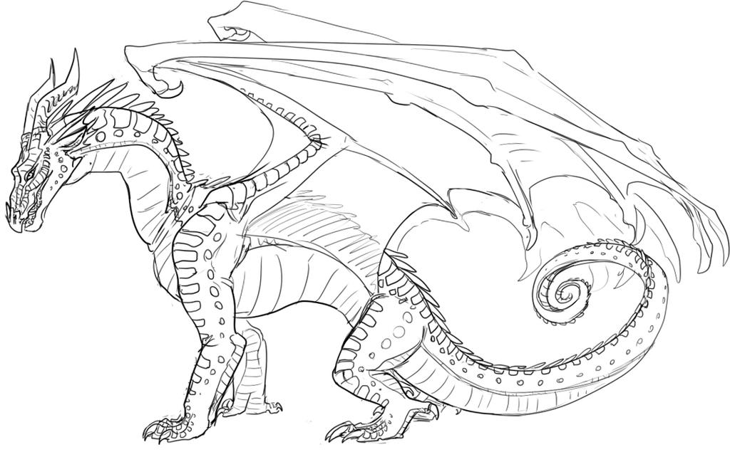 Wings Of Fire Dragon Coloring Page Night Wing