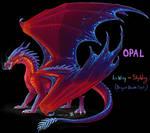 Opal - Wings of Fire hybrid OC
