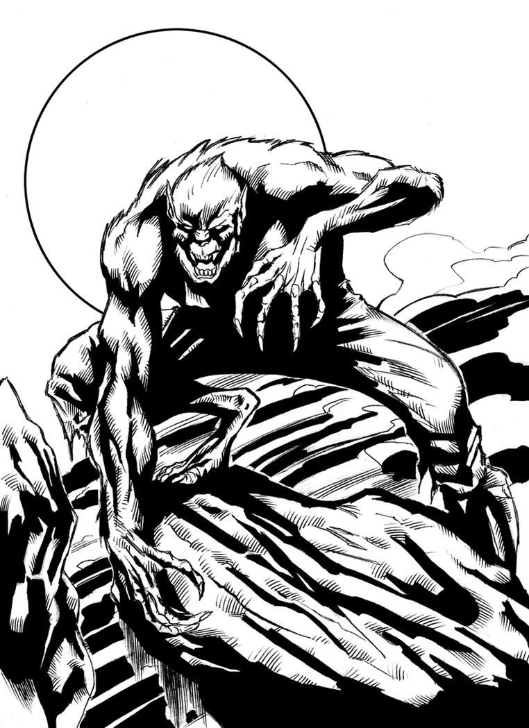 Wolfman digital ink. by Rogeliooliveira on DeviantArt
