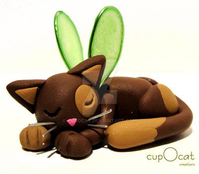 Sleeping Cat Fairy v.2 by cupOcat